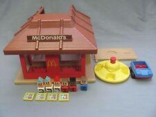Vintage Playskool McDonald's Trays People Car Familiar Places Workers Customers