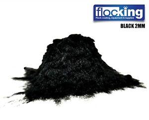 2MM BLACK FLOCK CAR INTERIORS FURNITURE NYLON FIBRES LUXURY FLOCKING 10G