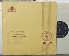 GASPAR CASSADO  Schubert  Sonate für Arpeggione  Schumann Cello-Konzert Orbis Lp