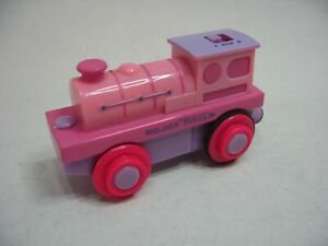 PINK Motorised Battery Train Engine for Wooden Track ( Fits Brio Thomas )