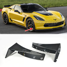 For 14-Up Corvette C7 Front Splitter Extension Winglets ABS Kit Z06 Z07 Stage 3