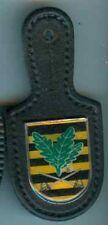Bundeswehr:Verbandsabzeichen auf Leder:Sachsenflagge,Blätter,Schwerter