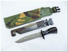 British Army SA80 L85 Bayonet w/ Plastic & DPM Camo Sheath - TOP Repro - New