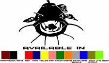 Flat Head Fishing Vinyl Window Decal Flathead Catfish Sticker 6 inch