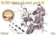 Czech Master 1/72 3 x crew figures at rest set 2 for U-Boat Type VII # F72127