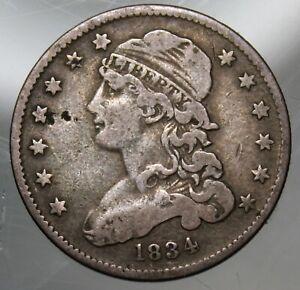1834 Capped Bust Quarter - Fine !!