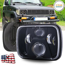1X 7x6 LED Headlights Sealed Beam Crystal Clear /w Blue DRL For Dodge W250 D350