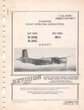 1945/53 DOUGLAS B-26B & C INVADER ATTACK BOMBER PILOTS FLIGHT MANUAL HANDBOOK-CD