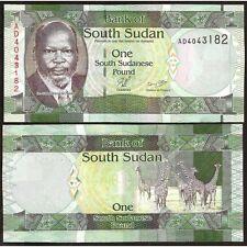 SOUTH SUDAN 1 Pound 2011 UNC P 5