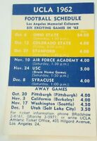 1962-63 UCLA Bruins Football Basketball Schedule