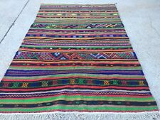 Antique Turkish Kilim Rug shabby vintage old wool country home Kelim 280x180cm