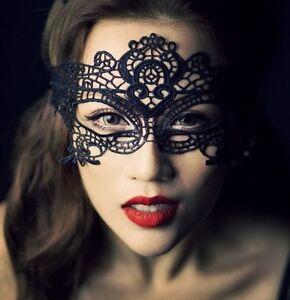 Masque Loup Venitien Dentelle Libertin Carnaval Erotique Noir Black Mask Lace