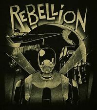 """Rebellion"" K-2SO Rogue One Metropolis Mashup Men's Large Shirt Ript"
