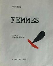 1965 JOAN MIRO ORIGINAL WOODCUT FRONTISPIECE FROM PORTFOLIO FEMMES, MAEGHT PARIS