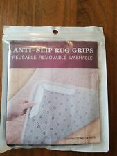 Rug Gripper Anti Slip Pads - 12 Piece Non-Slip Carpet Grip Super Sticky Reusable