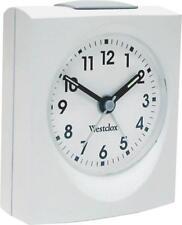 NEW WESTCLOX 47312W ANALOG WHITE BASE QUARTZ ALARM CLOCK SALE 8166977