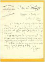 """PONTRIEUX (22) GRAINS GRAINES ENGRAIS """"FRANCOIS PHILIPPE"""" en 1908"""