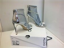 ALDO Silver Diamante Ankle Strappy Sandals Shoes  size 8 UK / 41  £75 NEW BOXED