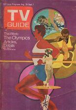 1972 Tv Guide August 26 - Olympics; Steven Spielberg at 24; Bobby Darin; Buckley