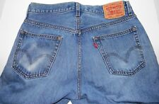 Levis 505 Straight Fit Jeans 34x30 Actual 33.5x29 Medium Blue Broken In