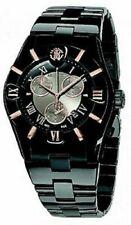 New Mens Roberto Cavalli R7253616045 Diamond Time Black Chronograph Date Watch