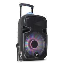 "Altavoz activo Bluetooth Portátil USB SD AUX 12"" 700W Micrófono Efecto bola Luz"