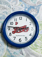VINTAGE PEPSI COLA 5 CENTS STEP BACK IN TIME SODA POP WALL CLOCK GREAT CONDITION