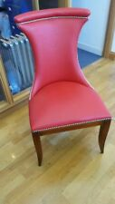 Reed & Rackstraw Ostritch Skin Dining Chairs Red Set of 4