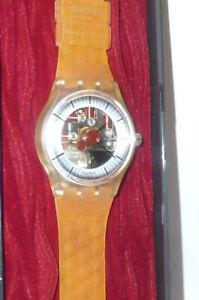 Swatch Reloj Swatchuhr Slz 106 Adam Special Nuevo Caja Montre Raro