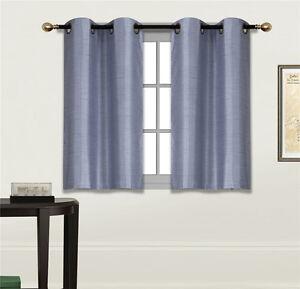 """2 PANELS Bedroom Half Window Curtain & KITCHEN WINDOW TIER 36"""" LENGTH N25"""