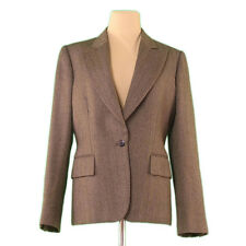 Gucci Coats Jackets Brown Woman Authentic Used L1942