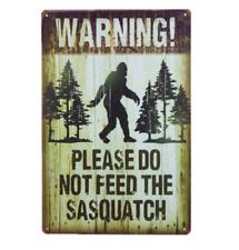 Sasquatch Bigfoot Feeding Tin Sign Diner Cafe Garage Wall Decor Metal Bar Art