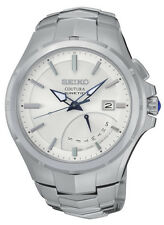 New Seiko SRN063 Coutura Kinetic Retrograde Silver Dial Stainless Men's Watch