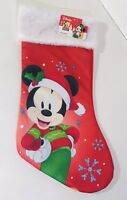 Disney Mickey Mouse Christmas Stocking New With Tags Red 90 Years