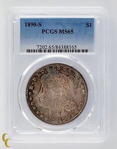 1890-S Silver Morgan Dollar $1 PCGS Graded MS 65