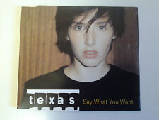 Texas Say What You Want CD Single