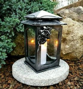 **  Grablaterne Grablampe Grableuchte Grabschmuck Grablicht  Granitsockel Rosen