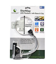 StarMag LED Flexilens Magnifying Lamp with Base and Clip