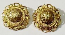 boucles clips bijou vintage filigranne couleur or earring gold tone * 3961