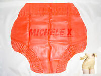 NEW Red Latex Rubber Female Frilled Baby Briefs (ENGLISH) S M L XL