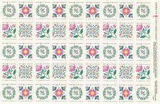 US American Lung Association Charity Seals se-tenant MNH sheet Flowers 1991