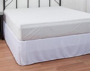 """Water & Bed Bug Proof Mattress Encasement 3-Side Zipper 9"""" Pocket Cal King *NEW*"""