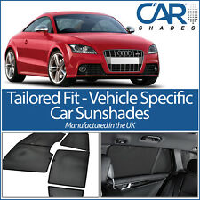 AUDI TT 2dr 2006-2014 UV CAR SHADES WINDOW SUN BLINDS PRIVACY GLASS TINT BLACK
