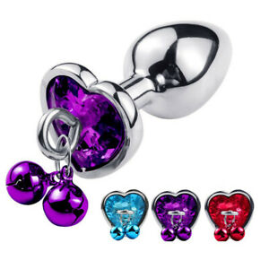 Metal Anal Plug Anal Bead With Bell Butt Trainer Kit Sex Toy For Adult Woman Men