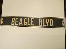 "New BEAGLE dog street sign BLVD 18 gauge metal 6 x 36"" garage friend MAN PET"