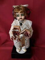 """Sinisterly Sissy's 'Naomi' undead,Spooky,Creepy,Haunted, Gothic, 19"""" w/stand"""