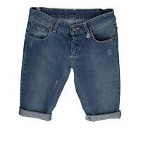 pantaloni donna bermuda VNT.TEX. 27 blu jeans cotone AR819 (AR820)