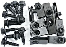 "Ford Truck Body Bolts & U-nut Clips- 1/4-20 x 1"" Long- 7/16"" Hex- 20 pcs- #408"
