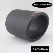 Universal 1 X 89mm Real Carbon Fiber Exhaust muffler tip  Pipe Tip Cover Matte