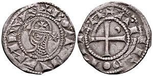 CRUSADERS (1163-1188 AD) Bohemond AR Denier. Antioch #CR 8154